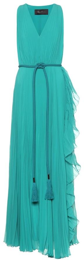 Max Mara Aiello double georgette maxi dress