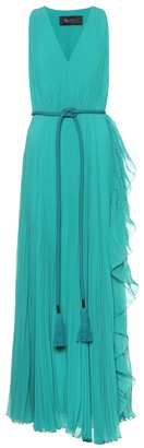 Max Mara Aiello double georgette maxi dress
