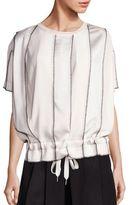 DKNY Paneled Blouson Top