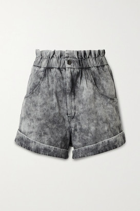 Etoile Isabel Marant Itea Acid-wash Denim Shorts - Gray