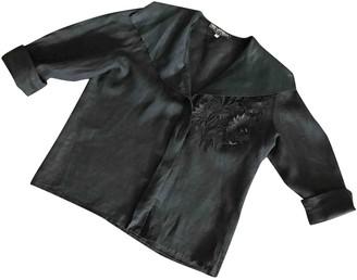 Ted Lapidus Black Linen Top for Women Vintage