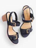 Talbots Mimi Buckle-Strap Sandals-Smooth Leather