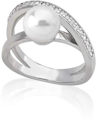 Majorica Simulated Pearl & Cubic Zirconia Ring