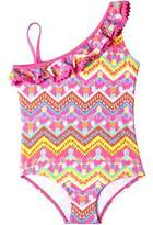 Pink Platinum Pineapple One-Piece Swimsuit - Little Girls'
