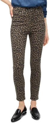 J.Crew 10 In Toothpick In Leopard