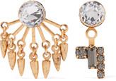 Elizabeth Cole Joslyn gold-tone crystal earrings