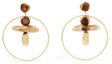 Dinosaur Designs Pebble Hoop Gold-filled Resin Earrings