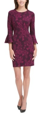 Tommy Hilfiger Floral-Print Bell-Sleeve Dress