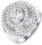 Celesta Women 925 Sterling Silver Silver Plated Zircon Rings