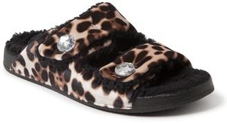 Dearfoams Women's Patterned Double Strap Slide Slippers