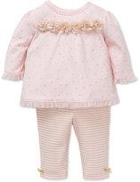 Little Me 2-Pc. Ruffle Top & Leggings Set, Baby Girls (0-24 months)