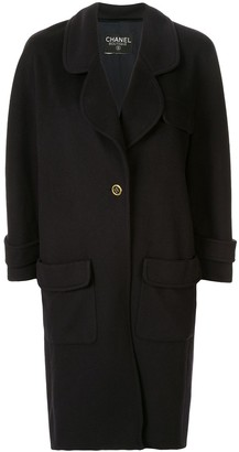 Chanel Pre-Owned cashmere slim-fit midi coat