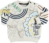 Kenzo Embroidered & Printed Cotton Sweatshirt