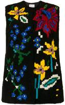 Valentino shearling embroidered gilet