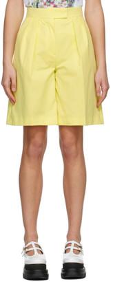MSGM Yellow Bermuda Shorts