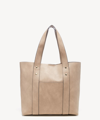 Sole Society Women's Claudia Tote Vegan Leather Cobblestone From