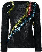 Versace open knit alpine jumper