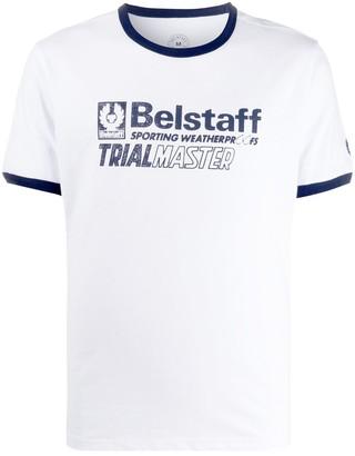 Belstaff contrast trim logo T-shirt