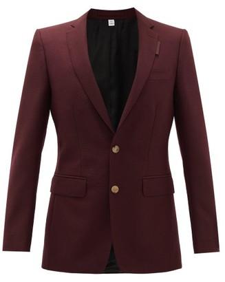 Burberry English Wool-blend Suit Jacket - Mens - Burgundy