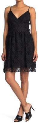 GUESS Mesh Overlay Party Dress