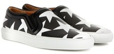 Givenchy Printed leather slip-on sneakers