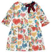 Gucci Cotton Muslin Corsage Dress, Pink/White, Size 6-12