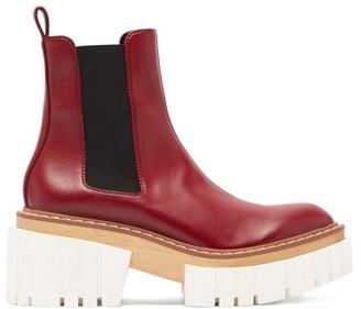 Stella McCartney Emilie Faux-leather Platform Chelsea Boots - Burgundy