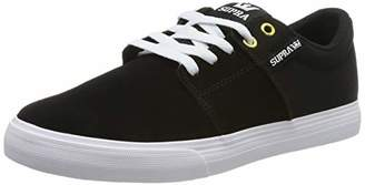 Supra Unisex Adults' Stacks Vulc II Skateboarding Shoes, Black-White-M 44