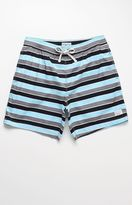 "Modern Amusement Kelley Skater Striped 17"" Swim Trunks"