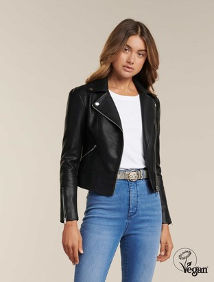 Forever New Lola Petite Biker Jacket - Black - 16