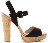Karen Millen Cork Platform High Heel Sandals