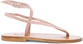 K. Jacques Suede Delta Sandals