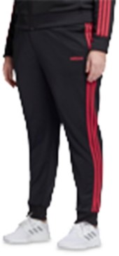 adidas Plus Size Side-Striped Jogger Pants