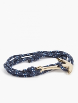 Miansai Navy Gold-Plated Anchor Bracelet