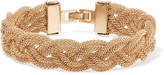 Kenneth Jay Lane Woven gold-tone cuff