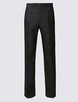 M&s Collection Big & Tall Charcoal Tailored Fit Trousers
