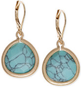 lonna & lilly Gold-Tone Blue Stone Drop Earrings