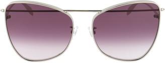 Alexander McQueen Eyewear Cat Eye Oversize Sunglasses