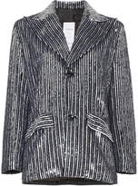Ashish striped sequin embellished blazer