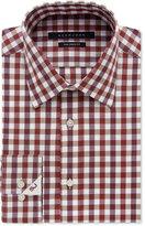 Sean John Classic/Regular Fit Men's Big & Tall Classic-Fit Cinnamon Plaid Dress Shirt