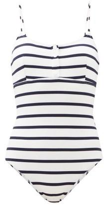 Melissa Odabash Calabasas Striped Swimsuit - Navy Stripe