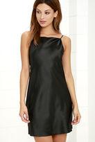 LuLu*s Cher Black Slip Dress