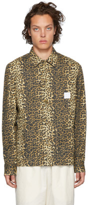 Stay Made SSENSE Exclusive Tan Leopard Mitre Jacket
