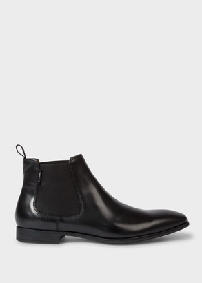 Paul Smith Men's Black Leather 'Falconer' Chelsea Boots