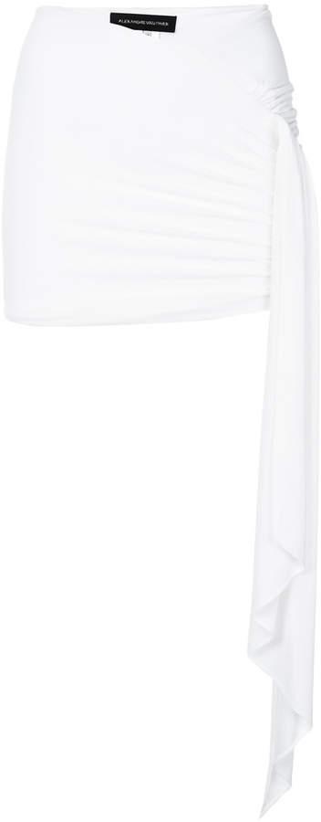 Alexandre Vauthier draped fitted mini skirt
