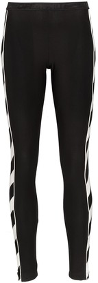 Off-White Diagonal Stripe Print Leggings