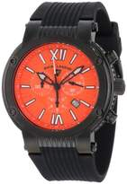 Swiss Legend Men's 10006-BB-06 Legato Cirque Chronograph Textured Dial Black Silicone Watch