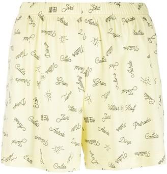 Viktor & Rolf Printed Pajama Shorts