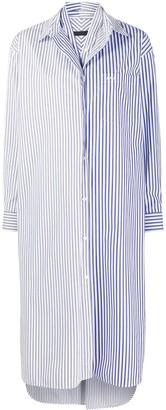 Juun.J Striped-Print Shirt Dress