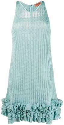 Missoni Ruffle-Hem Cable-Knit Dress